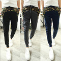 2015 New Fashion Men Harem Pants Camouflage Stitching Joggers Casual, Men Joggers Sweatpants M - XXL