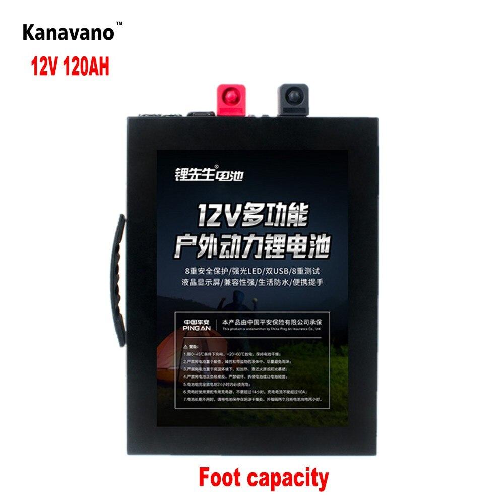 Batterie de paquet de batterie de phosphate de fer de lithium de grande capacité de 12.8V 120AH LiFePo4 avec le boîtier en métal allumant l'allume-cigare de LED