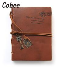 Cobee Kawaii Ancient Vintage Leather Classic String Key Notebook Diary Memo Sketchbook Home School Supplies