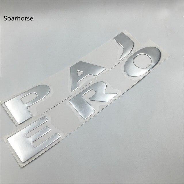 Soarhorse Silver Front Bonnet Emblems Badge Logo Stickers for Mitsubishi Pajero Montero V73 V75 V77 V93 V97