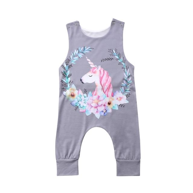 7ca203308995 Newborn Infant Baby Girl Boys Cartoon Floral Romper Tops Clothing ...