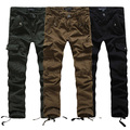 New Fashion Male Military Army Camouflage Cargo Pants Plus Size Multi-pocket Overalls Trousers Men 3 Color