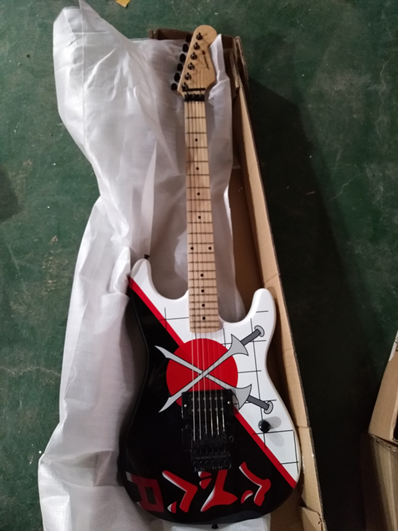 st tremolo electric guitar black accessories quality guarantee favorable price free delivery in. Black Bedroom Furniture Sets. Home Design Ideas