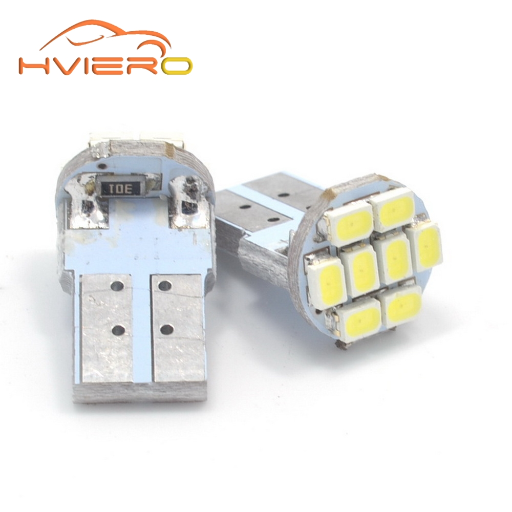 10Pcs T10 3020 1206 SMD 8leds 8SMD Car Led Interior Light 194 168 192 W5W Auto Wedge Lighting license lamp DC 12V Dash Light uxcell 10 pcs ice blue 3020 smd led vehicles car dashboard dash light lamp internal