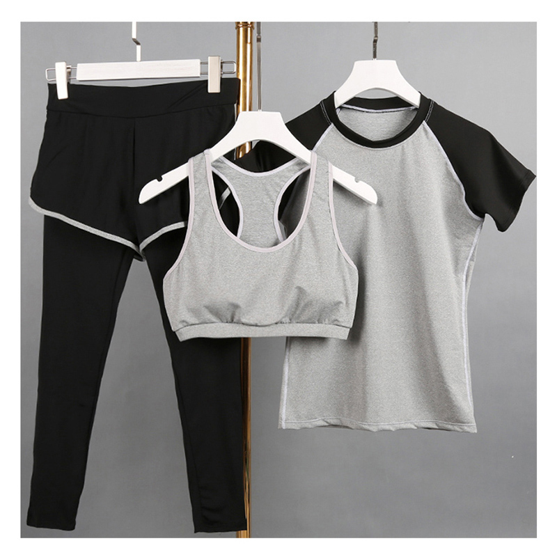 все цены на 2017 New Fitness Women Yoga Set Sport Suit Plus Size Sportswear lady elastic yoga pants Jogging Suits legging 6 color Size M-XXL