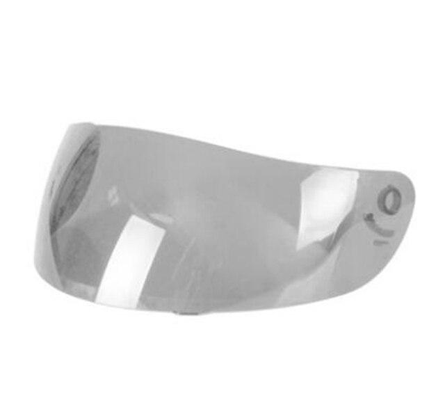 Casco de Moto transparente plateado Visor Moto capacete Len Moto Cascos escudo Nenki 802
