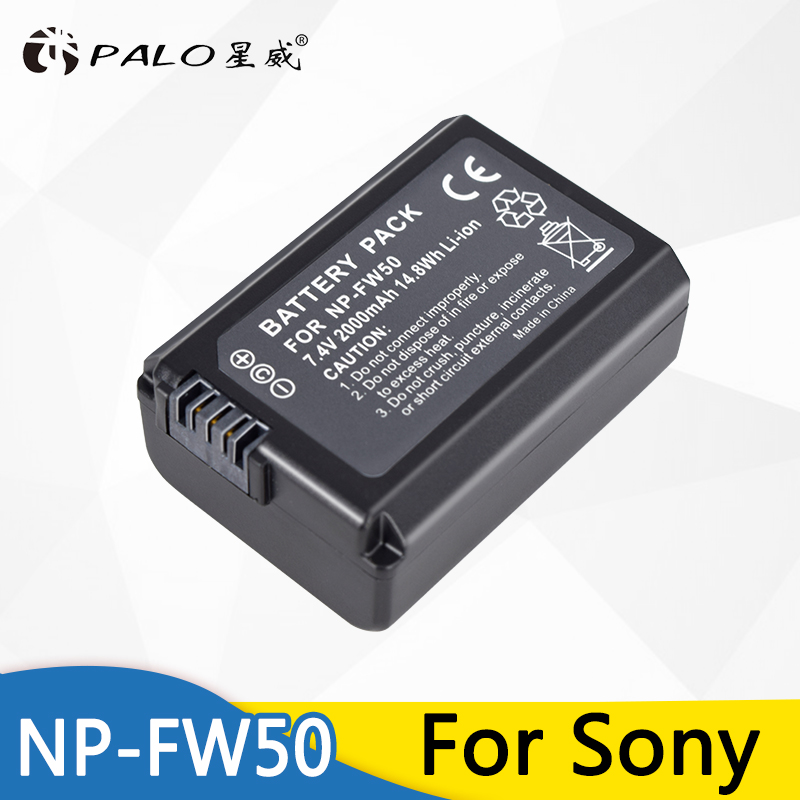 1pc 7.4v 2000mAh NP-FW50 NP FW50 NPFW50 Replacement <font><b>battery</b></font> For <font><b>Sony</b></font> <font><b>Alpha</b></font> 7 a7 7R a7R 7S a7S a3000 <font><b>a5000</b></font> a6000 NEX-5N 5C A55 image