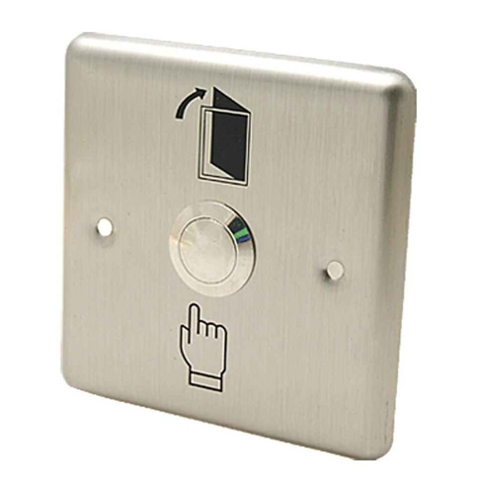 (10 pcs) Door access control button NO signal automatically restroration metallic switch 86 standard Door release swithc