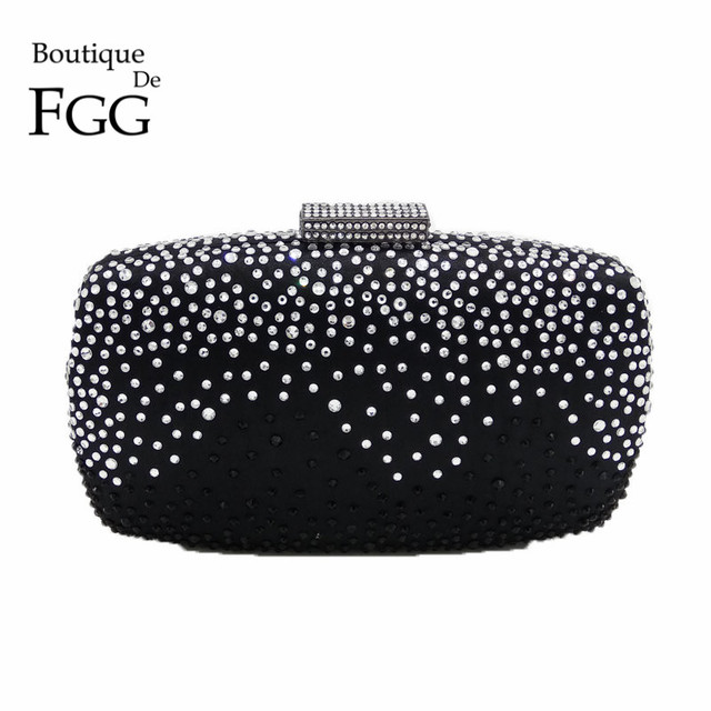 Black & White Crystal Women Evening Bags For Party Metal Clutches Wedding Clutch Bridal Purse Bolsos Mujer De Marca Famosa 2017