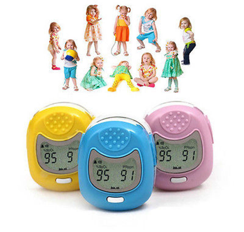 Contec Pediatric/Child Fingertip Pulse Oximeter LCD display CMS50QA, SpO2 Oxygen, 3 colours elera portable finger pulse oximeter spo2 pr odi4 pi fingertip oximetro de pulso de dedo blood oxygen saturometro