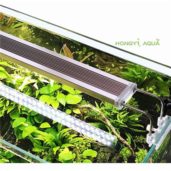 1 pièce en verre ADE série mince aquarium LED lumière éclairage plantes élèvent la lumière plante d'aquarium lumières 12 W 14 W 18 W 24 W