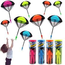 Hand Throwing Mini Soldier Parachute Funny Toy Kid Outdoor Game Play Educational Toys Fly Parachute Sport for Children Toy(China)