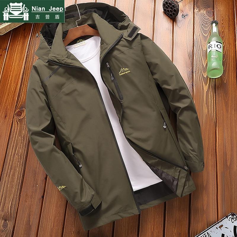 2020 New Casual Waterproof Jacket Men Spring Autumn Windbreaker Bomber Jacket Male Quick Drying Hooded Coats Plus Size L-4XL