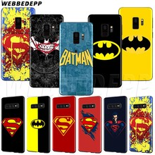 WEBBEDEPP Batman vs Superman Tpu สำหรับ Samsung A3 A5 A6 A7 A8 A9 J6 Plus 2016 2017 2018(China)