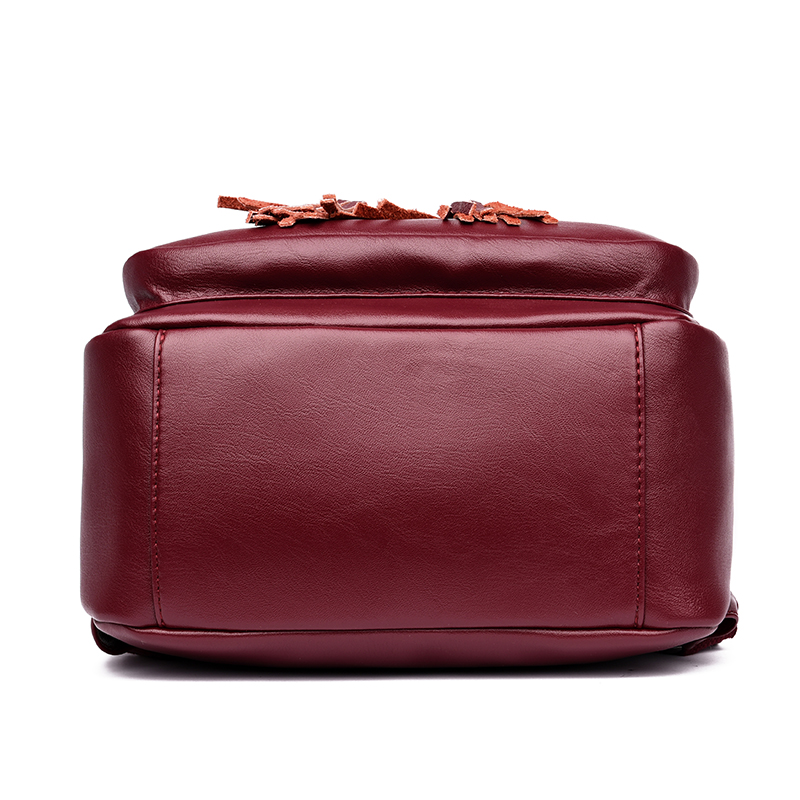 Fashion Women Backpacks Women's Leather Backpacks Female School Backpack Women Shoulder Bags For Teenage Girls Travel Back #4