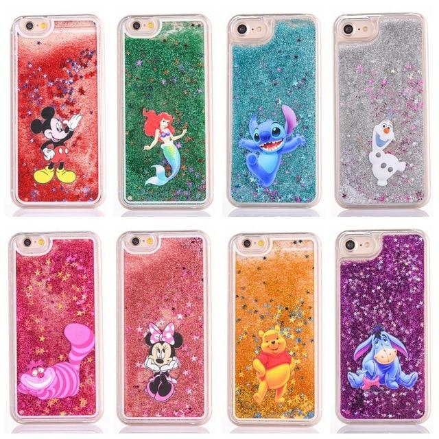 Cute Cartoon Glitter phone case for iphone 5 5S SE 6 6S 7 8 Plus X