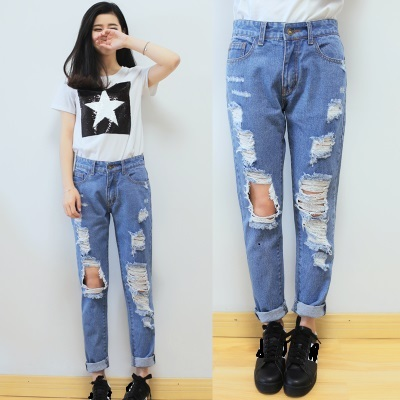 26 30 Hot sale Women's ripped jeans Fashion boyfriend jeans for ...