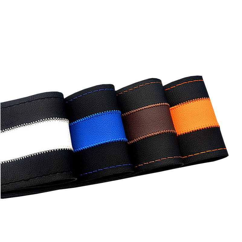 Leisure Brush Color Top Leather handlebar braid Steering- Wheel/DIY Very durable steering wheel cover skin