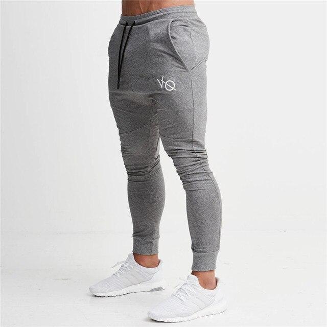 4c17aaae305a0 2019 Novos Homens Calças de Treino de Musculação Academias de fitness  Sweatpants Masculinos Elástica Ocasional Algodão