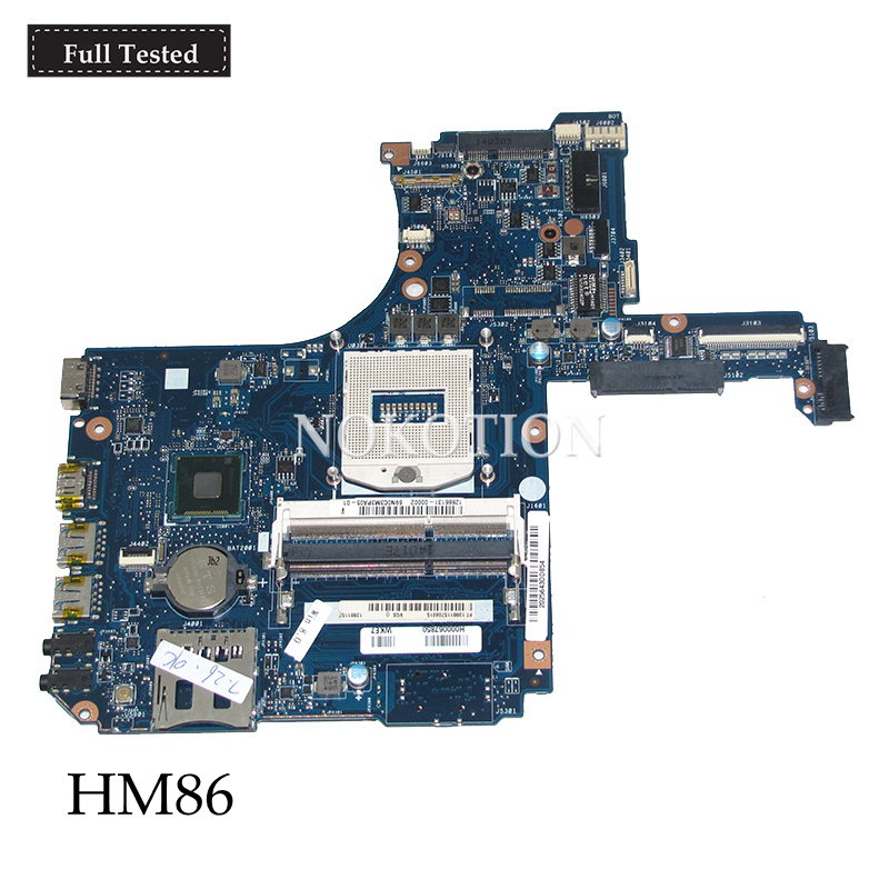 все цены на NOKOTION VGS MB Rev 2.1 H000067850 Main board For Toshiba satellite P50T P50T-A L50 L55 Laptop motherboard DDR3L HD5000 HM86
