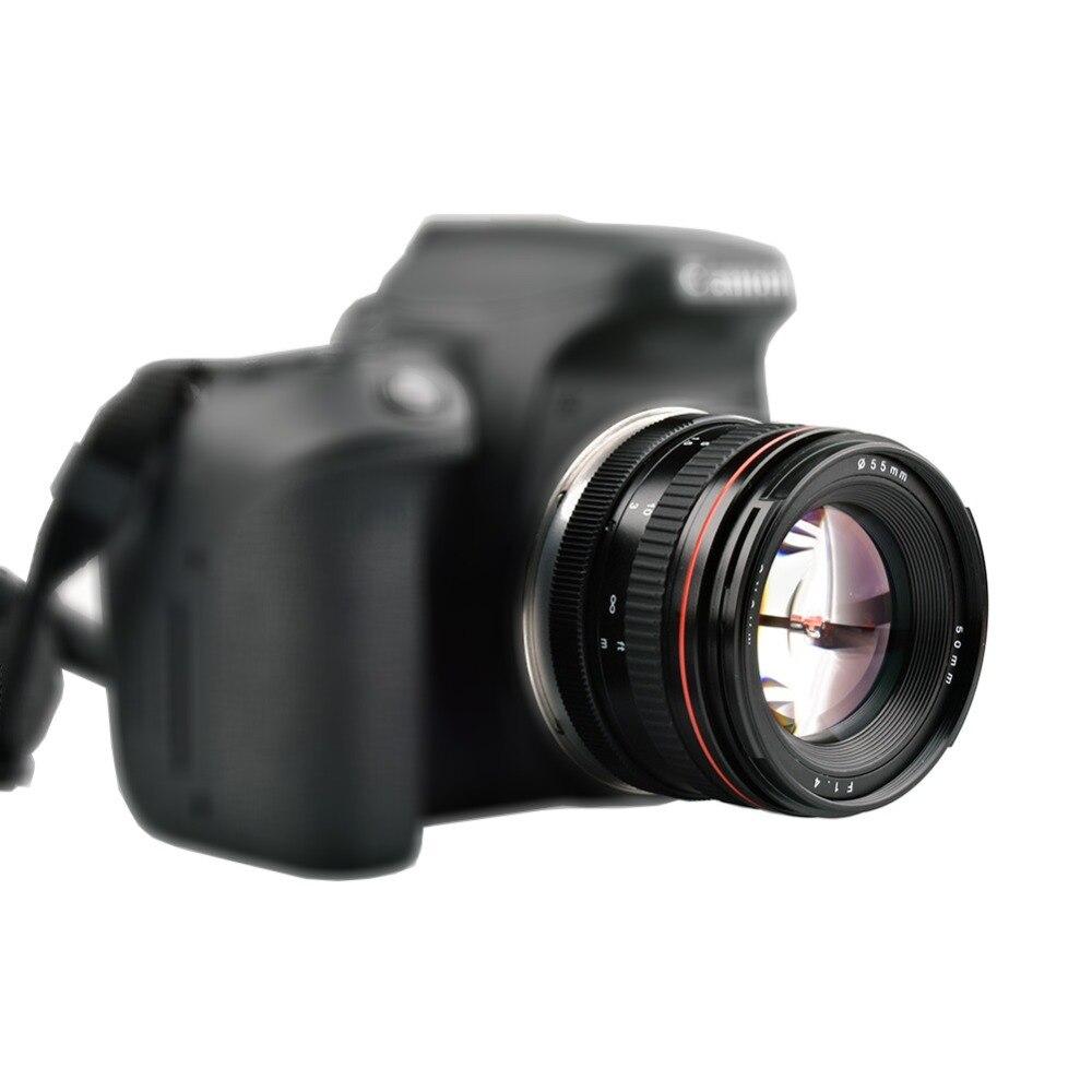 Lightdow 50 мм F1.4 большой апертурой портрет ручная фокусировка Камера объектив для Canon 550D 760D 77D 80D 5D4 Nikon D5100 d7100 D810 D750