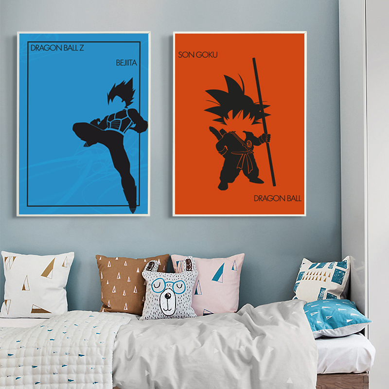 Bianche Wall Dragon Ball Classic Anime Cartoon A4 Canvas Painting Art Print Poster Picture Paintings Home Decoration