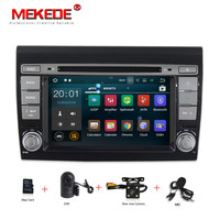 Quad Core 1024*600 2G RAM Android 7.1 Car DVD GPS Navigation Player Car Stereo for Fiat Bravo (2007 2012) Radio Wifi BT+8G map