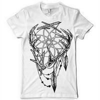 THE TRIBE INDIAN DREAM CATCHER ANTLER BONE FEATHERS MENS tshirt tee Cheap Wholesale tees,100% Cotton Tee Shirt, 2019 Hot Tees