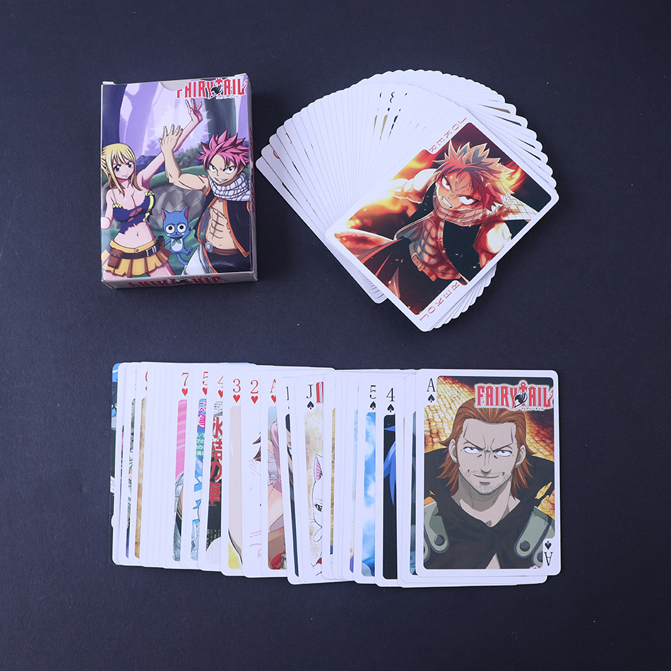 Japan Anime ACG Fairy Tail Gray Lucy Natsu Dragneel  Erza Poker boxed Card Collection Card Card ONEPIECE play game  playing card