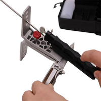Creative Kitchen Grindstone Mini Portable 5 Grinding Cutter Stainless Steel Grinder Clamp Fast Cut Point Knife