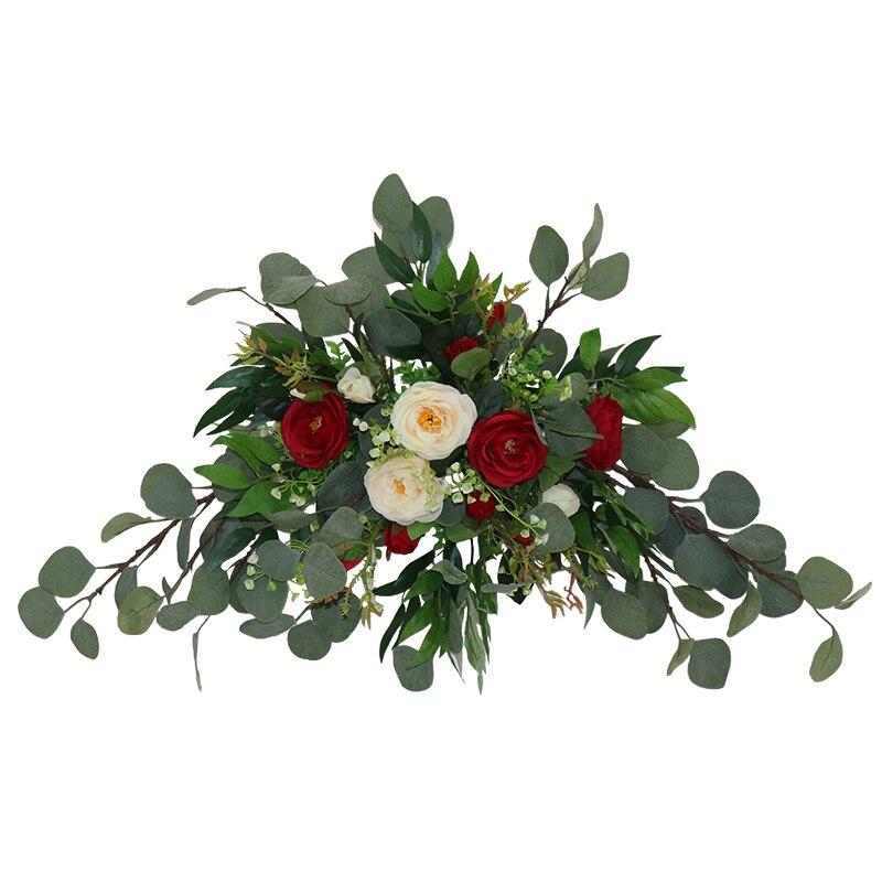 Floral fleur artificielle ensemble fleur artificielle fleur artificielle porte décoration arrière-plan coin fleur mariage arrangement batteuse - 6