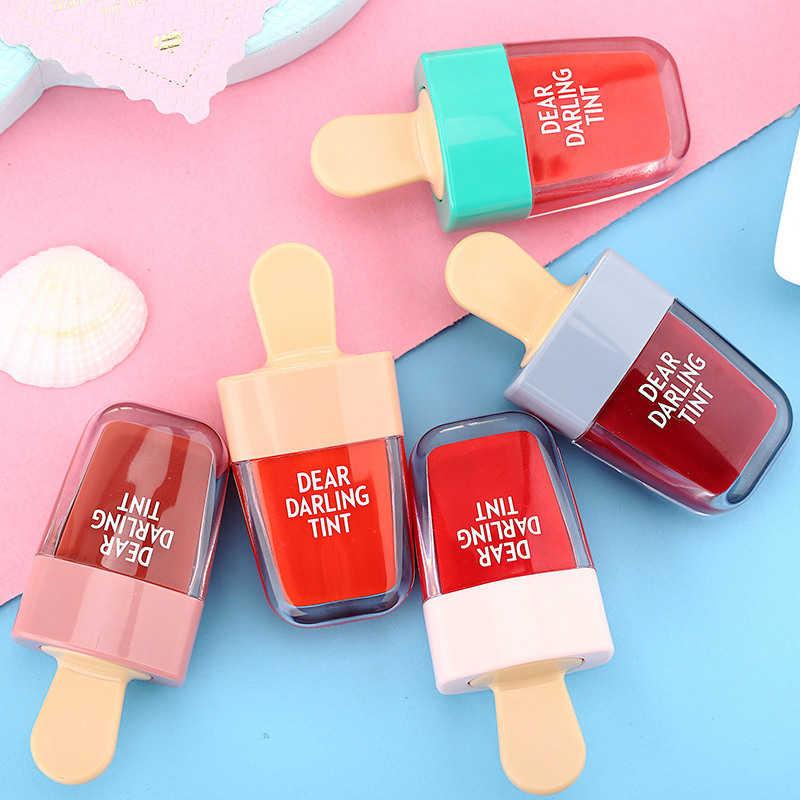 חמוד קרח קרם גלוס לאורך זמן עמיד למים קוסמטי נוזלי שפתון ורוד אדום שפתיים גוון קוריאני סגנון איפור ליפ גלוס