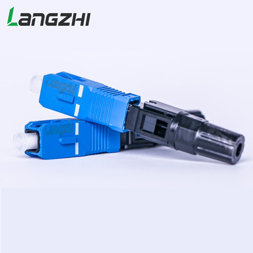 Image 4 - SC UPC Fiber Optic Fast Connector 100 SC FAST connector blue 
