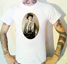 Billy The Kid T-Shirt Cowboy Western Only known photo outlaw gunslingerStreetwear Funny Print Clothing Hip-Tope Mans T-Shirt floral skull women t shirt s 3xl newstreetwear funny print clothing hip tope mans t shirt tops tees hot sale men t shirt fashion