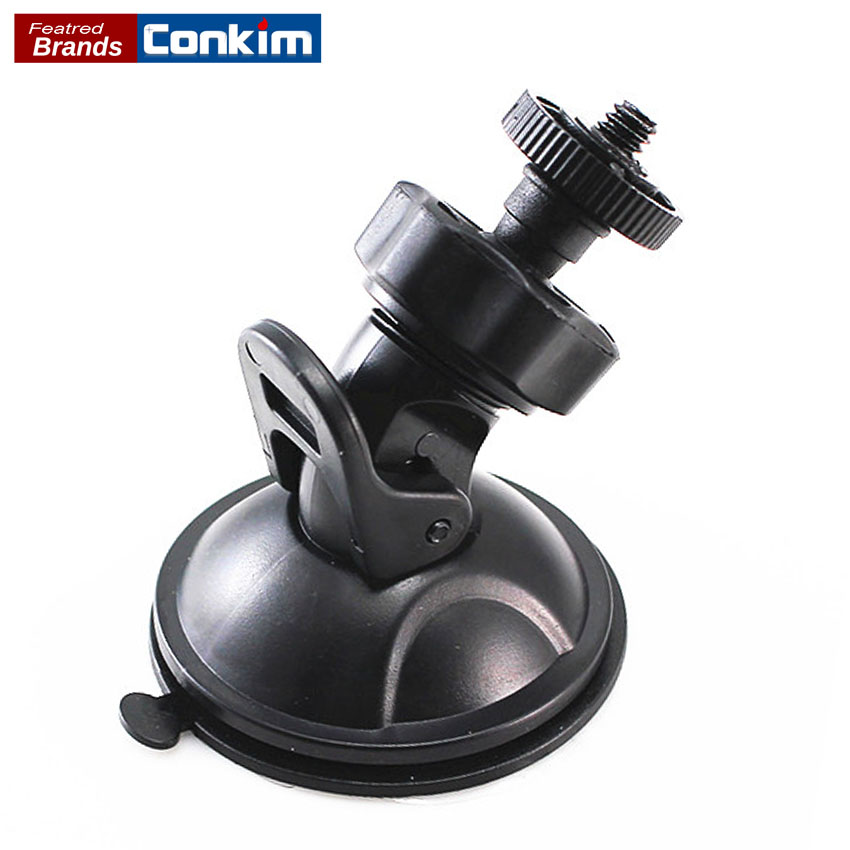 Conkim Quality 360 Degree Rotating Suction Cup Car Holder For Dash Camera Screw Head Design Plastic Rubber Windshield GPS Holder