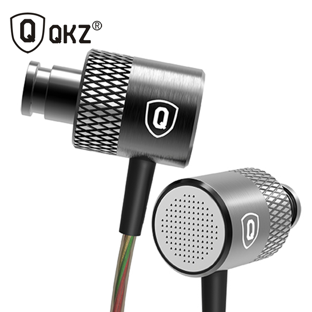 QKZ X3 Earphone Go Pro Earphones Metal In-ear Earphones Balanced Professional Bass in-Ear Headset DJ fone de ouvido ufo pro metal in ear earphones treadmill female drug sing karaoke audio headset diy mobile phone