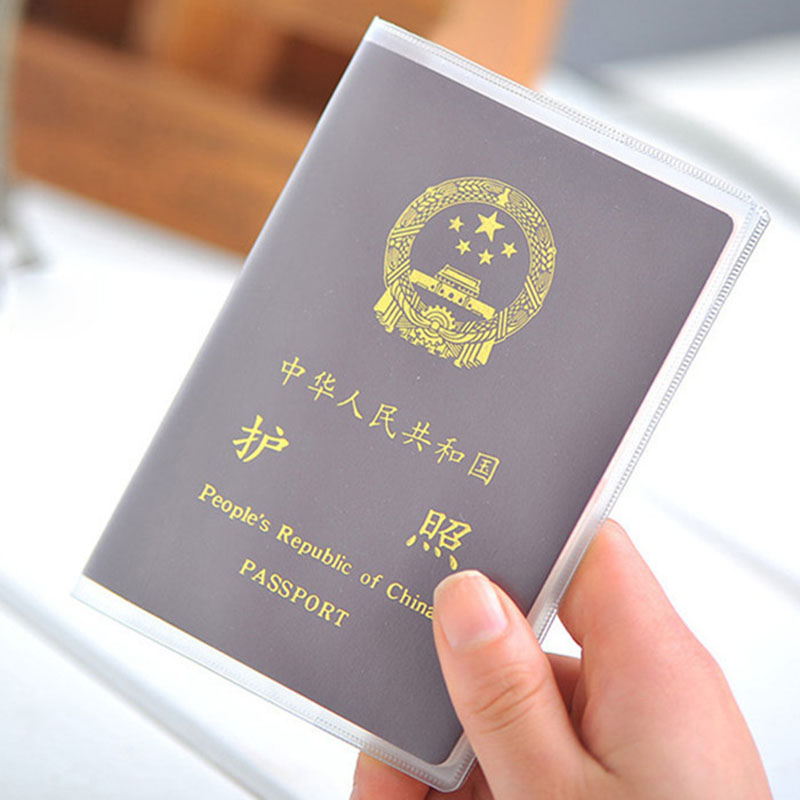 Waterproof PVC Transparent Passport Cover Case Women Travel ID Card Holders Business Credit Card Holder