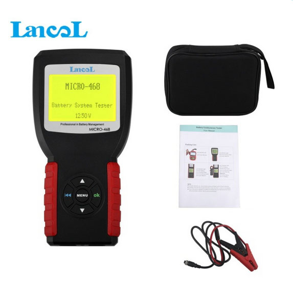 Car Battery System Tester MICRO-468 for 12v & 24v system Multi-language MICRO 468 for SOH SOC CCA IR free shipping towards chereme based dynamic sign language gesture recognition system
