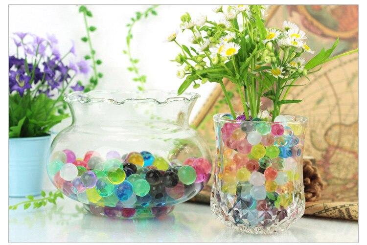 1200 шт почва из гидрогеля прозрачный цветок растения вода питательный Биогель почва семья украшение
