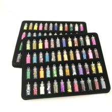 2017 Sale New Glitter Dust 48bottles/pack Different Colors Nail Glitter Powder Dust Art Decoration Acrylic Polish Tools Set