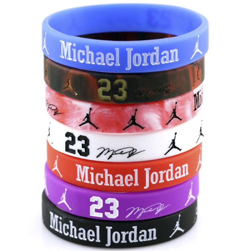 1 Pz Jordan Star Del Basket Sport Della Gomma Di Silicone Wristband Del Braccialetto Libero Smoothing Circulation And Stopping Pains