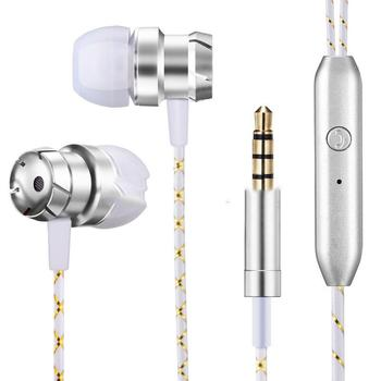 Universal Mobile Phone Wired Metal Headphones 16() 0.1 (%) 108 (dB) Stereo Bass Music Earbuds Casual With Mic