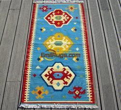 KILIM czysta wełna ręcznie tkane dywany Pakistan egzotyczny styl etniczny dywan dywan na korytarz czerwony koc gc149-15