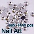 Pequeño Tamaño SS5 (1.7-1.8mm) 1440 unids Crystal Nail Rhinestones Arte De Uñas BRICOLAJE Arte de La Boda decoración Y Teléfono Celular