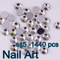 Small Size SS5(1.7-1.8mm) 1440pcs Crystal Nail Art Rhinestones For DIY Nails Art Wedding Decoration And Cell Phone