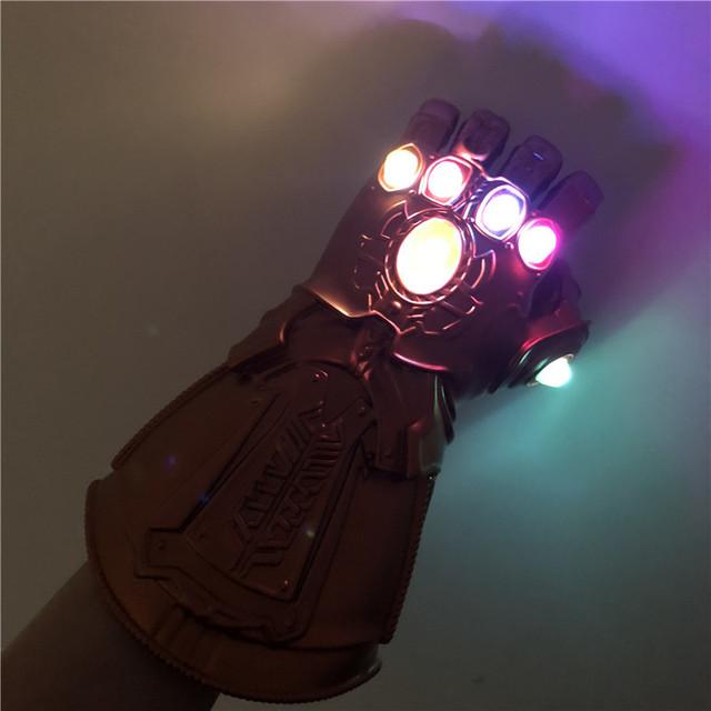 1:1 luz LED Thanos Infinity gautlet vengadores Infinity War Cosplay Guantes LED regalo disfraz de Halloween Accesorios