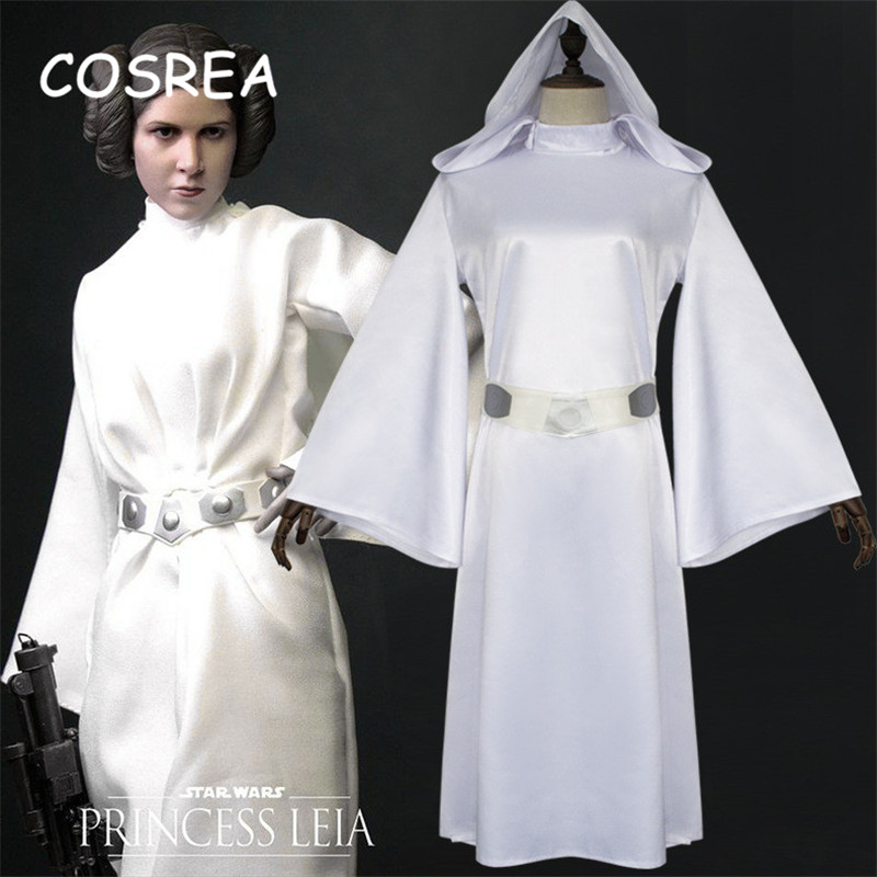 Movie Star Wars Leia Organa Solo Princess Skywalker's Daughter Cosplay Costumes Girls Clothes Female Dress Women With Belt