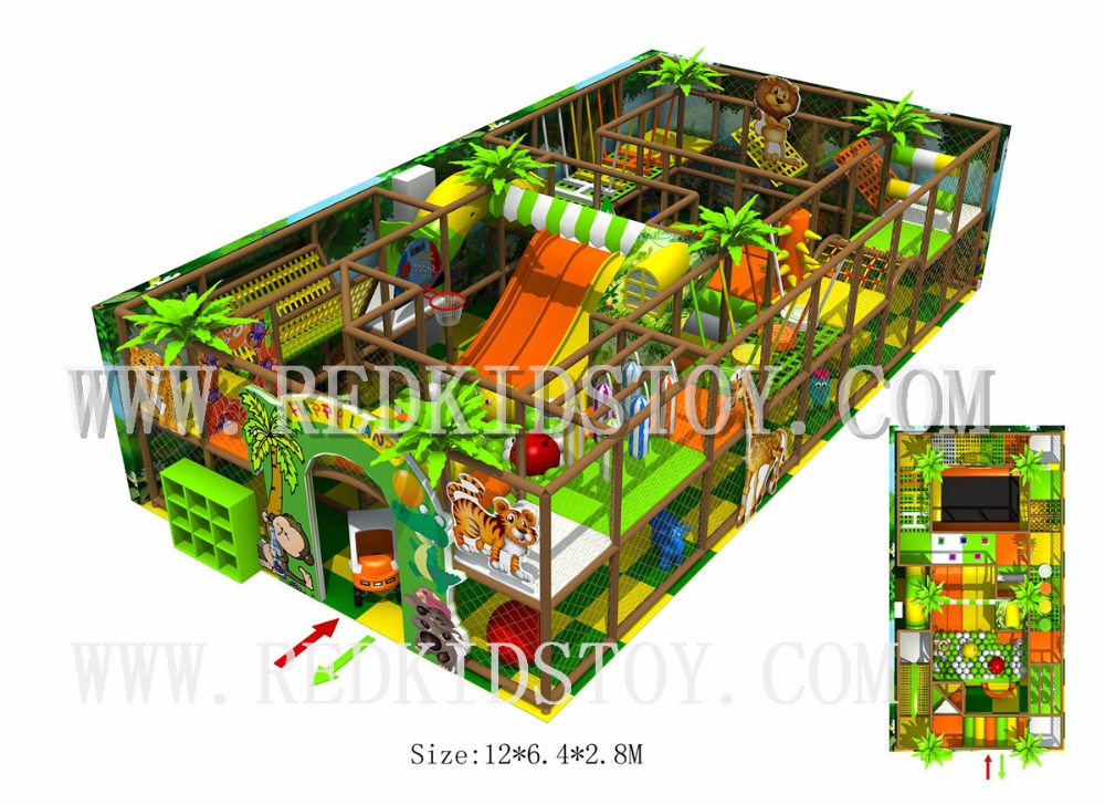 Shipped To Canada Safety Raw Material Indoor Playground For Kids 23 Years' Manufacturing Experience 170913-A