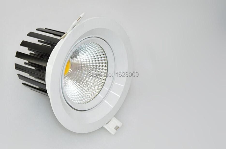 2015 новые 12 Вт Новый очень яркий светодиодный чип COB светильник Потолочные Встраиваемые Светодиодные пятно света лампы белый/ теплый белый
