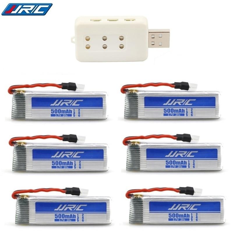 (6-in-1) 3.7 v 500 mah 20c per JJRC H37 Eachine E50 E50S T37 ELFIE Drone Elicotteri RC Lipo Batteria e USB caricatore Pezzi di Ricambio(6-in-1) 3.7 v 500 mah 20c per JJRC H37 Eachine E50 E50S T37 ELFIE Drone Elicotteri RC Lipo Batteria e USB caricatore Pezzi di Ricambio